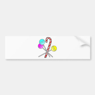 assorted sweets design bumper stickers