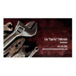 Assorted Tools Maroon Handyman Business Card