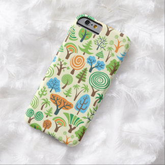 Assorted Trees- Cartoon Retro Style Pattern Barely There iPhone 6 Case