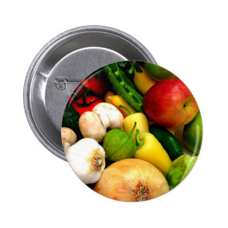 Assorted Vegetables 2 Inch Round Button