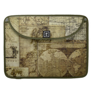 Assorted Vintage Old World Maps MacBook Pro Sleeves