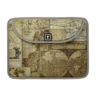 Assorted Vintage Old World Maps Sleeves For MacBooks