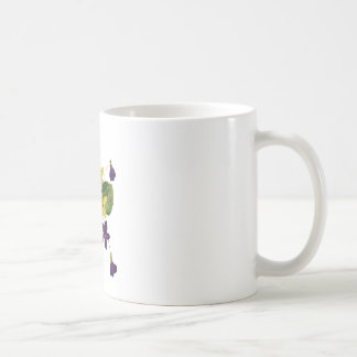 Assorted Wild Violets Done in Crewel Embroidery Coffee Mug