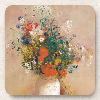 Assortion of Flowers in Vase Beverage Coaster