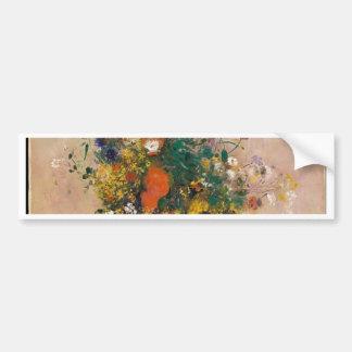 Assortion of Flowers in Vase Bumper Sticker