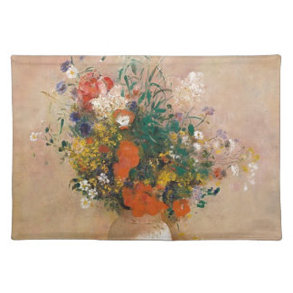Assortion of Flowers in Vase Placemat