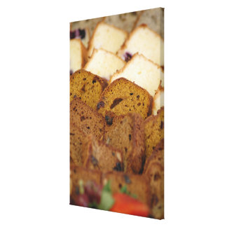 Assortment of Breakfast Breads and Cakes Canvas Print