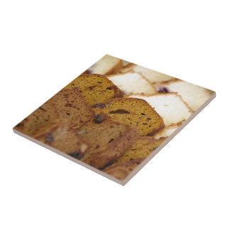 Assortment of Breakfast Breads and Cakes Ceramic Tile