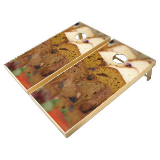 Assortment of Breakfast Breads and Cakes Cornhole Set