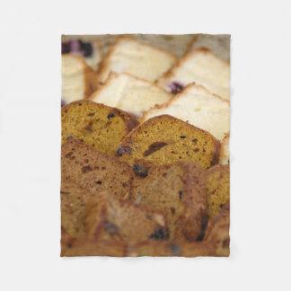 Assortment of Breakfast Breads and Cakes Fleece Blanket