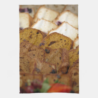 Assortment of Breakfast Breads and Cakes Kitchen Towel