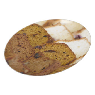 Assortment of Breakfast Breads and Cakes Plate