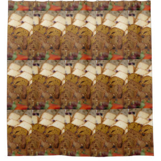 Assortment of Breakfast Breads and Cakes Shower Curtain