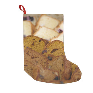 Assortment of Breakfast Breads and Cakes Small Christmas Stocking