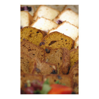 Assortment of Breakfast Breads and Cakes Stationery Paper
