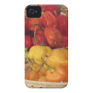 Assortment of colorful chilli peppers Case-Mate iPhone 4 case