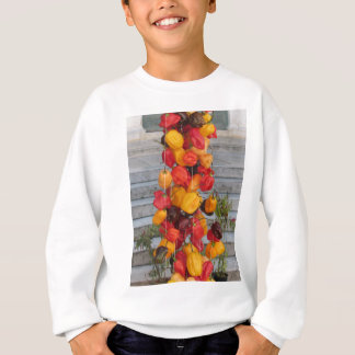 Assortment of colorful chilli peppers sweatshirt