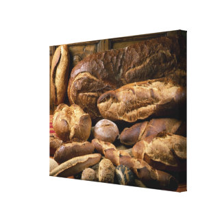 Assortment of country-style breads For use in Canvas Print