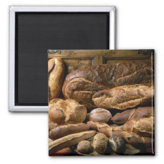 Assortment of country-style breads For use in Magnet