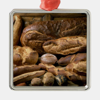 Assortment of country-style breads For use in Metal Ornament