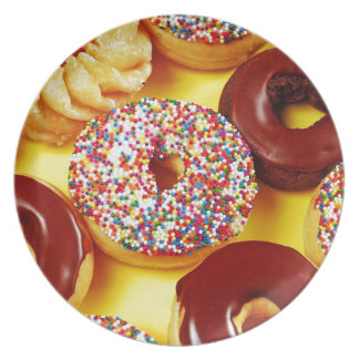 Assortment of delicious donuts plate