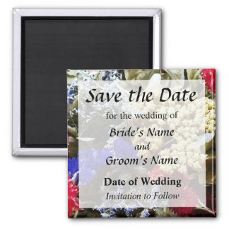 Assortment Of Dried Flowers Save the Date Magnet