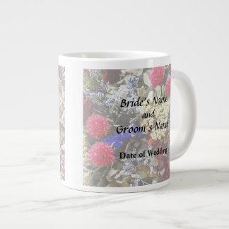 Assortment Of Dried Flowers Wedding Supplies Giant Coffee Mug