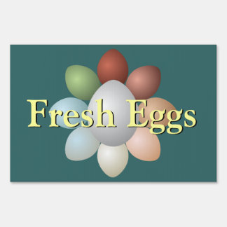 Assortment of Eggs Lawn Sign