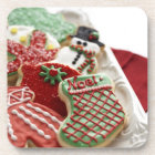 assortment of festive holiday cookies beverage coaster