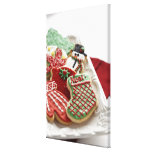 assortment of festive holiday cookies canvas prints