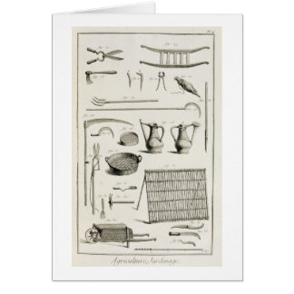 Assortment of gardening tools, from the 'Encyclope Card