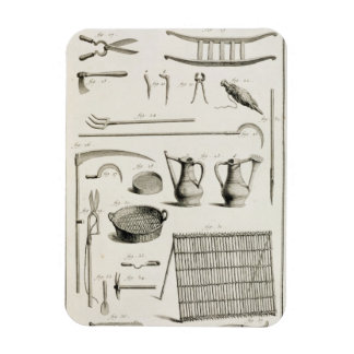 Assortment of gardening tools, from the 'Encyclope Rectangular Photo Magnet