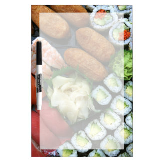 Assortment of Japanese sushi favorites Dry Erase Board