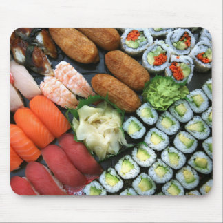Assortment of Japanese sushi favorites Mouse Pad
