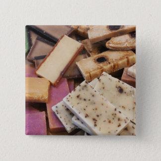 Assortment of organic handmade soaps button