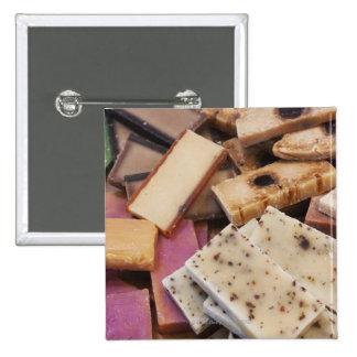 Assortment of organic handmade soaps pinback button