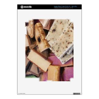 Assortment of organic handmade soaps decals for iPad 3
