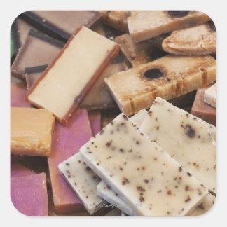 Assortment of organic handmade soaps stickers
