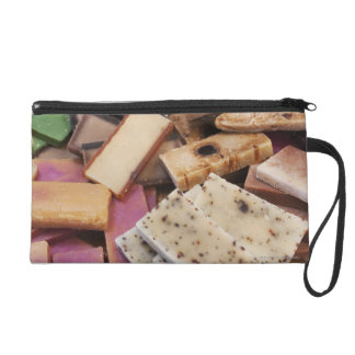 Assortment of organic handmade soaps wristlet