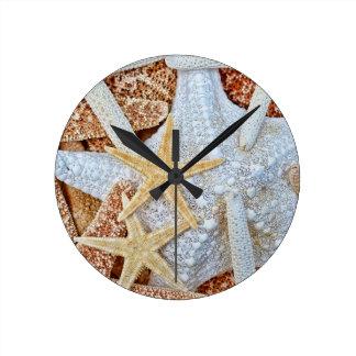 Assortment of Starfish Round Clock