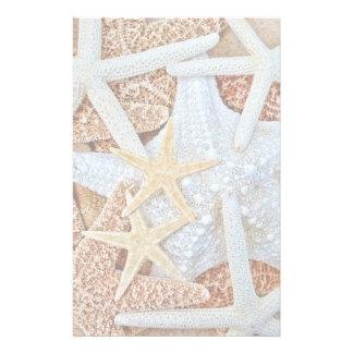 Assortment of Starfish Stationery Design