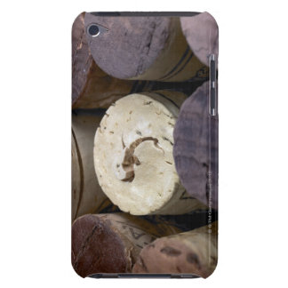 Assortment of used corks, macro. The corks have iPod Touch Case-Mate Case