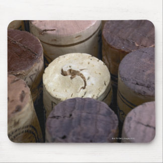 Assortment of used corks, macro. The corks have Mouse Pad