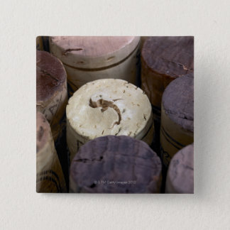 Assortment of used corks, macro. The corks have Pinback Button