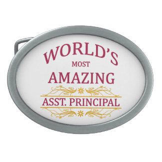 Asst. Principal Oval Belt Buckle