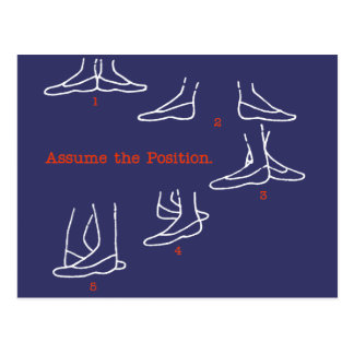 Assume the Position Ballet Gifts Post Cards