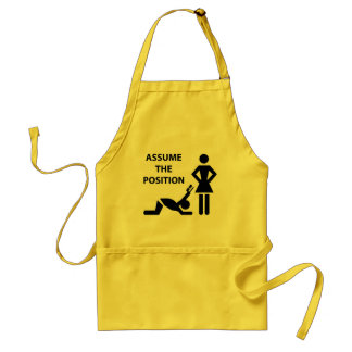 Assume The Possition Adult Apron