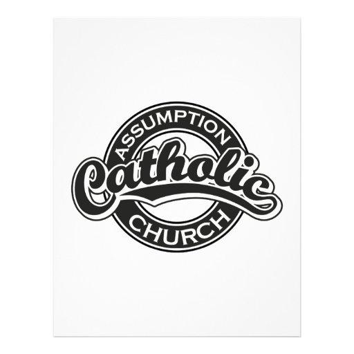 Assumption Catholic Church Black Letterhead