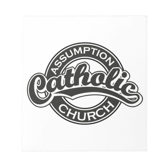 Assumption Catholic Church Black Notepad