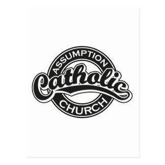 Assumption Catholic Church Black Postcard